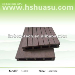 HDPE plastic & wood decking terrace floor/ Balcony flooring/ garden deck