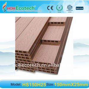 garantie de qualité ! Plancher en bois extérieur composé en plastique en bois de decking/plancher