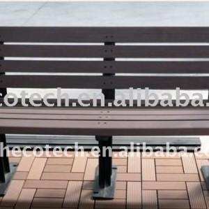 2011 novo material impermeável banco wpc madeira/composto de bambu banco de parque/jardim