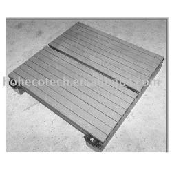 組み立てられたwpcの床板