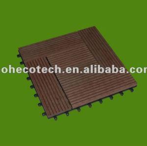 panneau diy composé en plastique en bois de tuile de vente chaude durable (preuve de l'eau, résistance UV, résistance à se décomposer et fente)