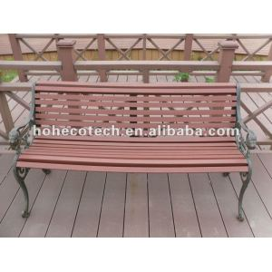 Wood Plastic composite wpc wooden chair/outdoor furniture/public chair/leisure chair