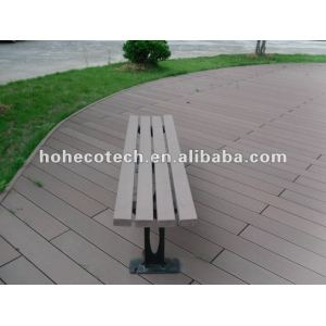 Wpc material outdoor wooden bench
