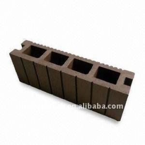 Decking composé en plastique en bois de decking de décoration de plancher de /flooring de decking en bois extérieur de wpc