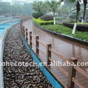 Deckt hölzerner Fußboden WPC des WPC Herstellers Plastikdecking hölzernen zusammengesetzten Plastikbodenbelag mit Ziegeln