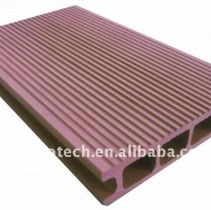 Grossista di plastica legno wpc decking composito/pavimentazione ( ce, rohs, astm, iso 9001, iso 14001, intertek )