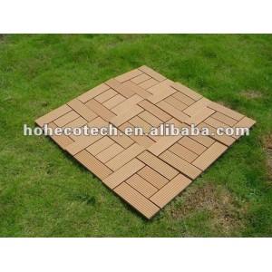wood plastic composite diy patio tile