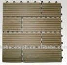 Tuile/plancher faciles cannelés d'Installalion DIY WPC