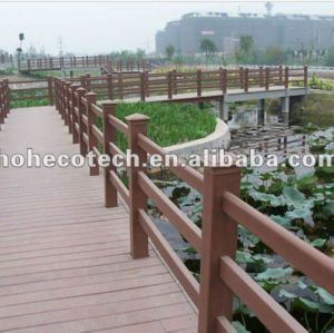 Outdoor wood plastic composite decking/eco wpc decking