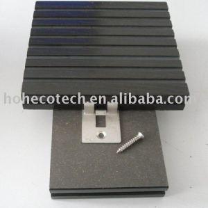 Wood plastic composite deck - - cinza escuro