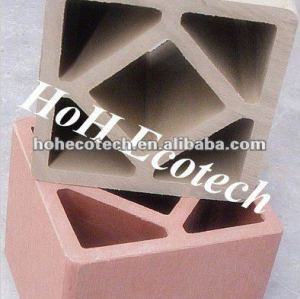 Recycled outdoor decorative wood plastic composite synthetic fence post/wpc fencing post