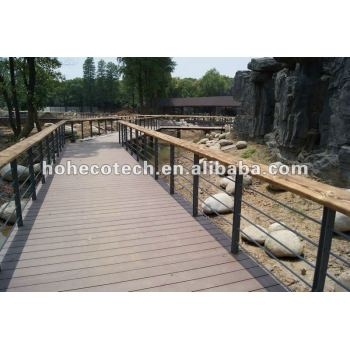 WPC outdoor wood plastic composite decking