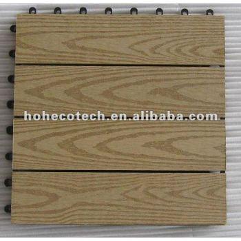 Durable interlocking WPC decking garden tile flooring