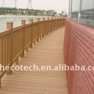 Non-peinture, wpc résistant imperméable, ignifuge, UV clôturant la balustrade composée de pont en barrière de jardin de wpc de barrière de wpc