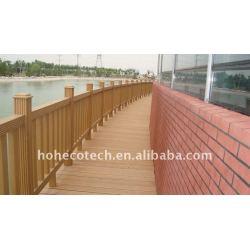 非ペンキ、wpcの塀のwpcの合成の庭の塀橋柵を囲う耐候性がある、防火効力のある、紫外線抵抗力があるwpc