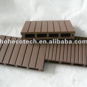 14 decking /wood de Decking en bambou extérieur des cannelures 147x23mm/bois de construction composés en plastique en bois de tuile de plate-forme wpc de plancher