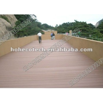 High tensile strength &Slip resistant outdoor wood flooring WPC(Wood Plastic Composite) decking