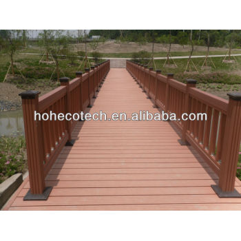 Rot resistant composite outdoor decking flooring