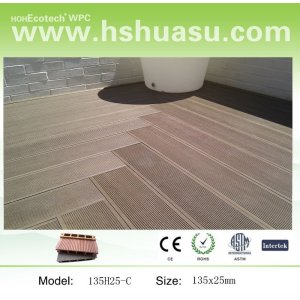 Hollow Decking/competitive price WPC