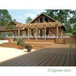 自然な木製の見るプラスチック製材WPC Deckingか床張り