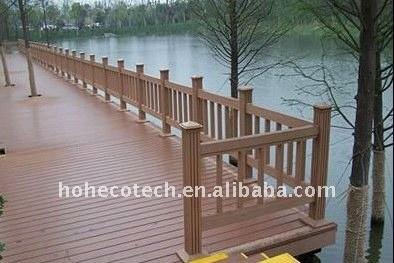 Welcome! wpc bridge handrail waterproof bridge railing wood plastic composite stair railing