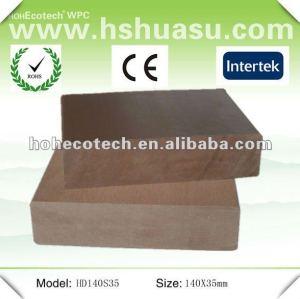 Plate-forme composée en plastique en bois de wpc extérieur plein populaire de Huasu (CE ROHS ISO9001)