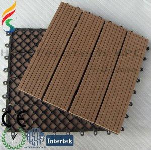 matériaux de construction de verrouillage de wpc de base en plastique