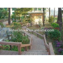 Rot resistant composite garden decking flooring