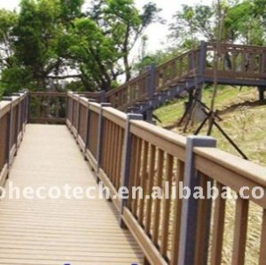 well DESIGN wpc bridge handrail waterproof bridge railing wood plastic composite stair railing