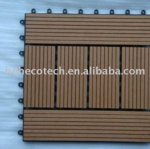 WPC enclenchant le decking de deck/DIY tile/DIY/decking de wpc