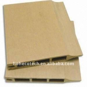 Luce di design cava decking di wpc/pavimentazione di wpc bordo bordo di legno decking composito di plastica tavole