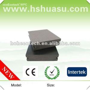 Decking composé en plastique en bois extérieur plein populaire de Huasu WPC (CE ROHS ISO9001)