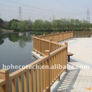 Bem projeto wpc corrimão da ponte ponte impermeável trilhos composto plástico de madeira da escada/trilhos da plataforma