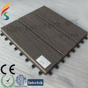 interlocking plastic base wpc sauna tile
