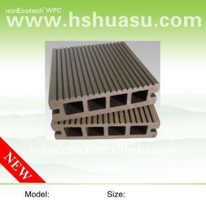 Wpc legno decking composito di plastica/pavimentazione ( ce, rohs, astm, iso 9001, iso 14001, intertek ) piano wpc bordo ponte di legno