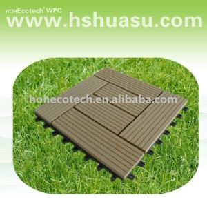 Eco - friendly wood plastic composite decking/ telha/ deck telha/ composite deck