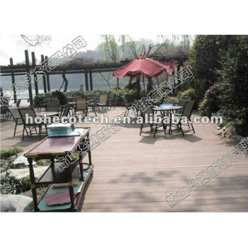 Wood texture WPC Outdoor Decking for real estate