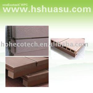 plancher extérieur/decking composé en plastique en bois respectueux de l'environnement