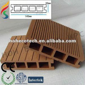 Plancher composé en plastique en bois extérieur en bois artificiel décoratif de decking/wpc/CE/Intertek/Reach/RoHS