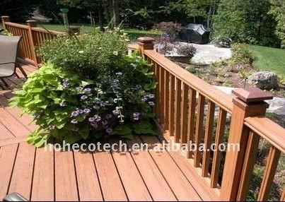 Muebles de exterior la decoración de pisos wpc compuesto plástico de madera decking/compuesto suelo de madera