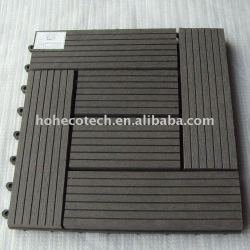 ecotech composite WPC interlocking decking tiles edges