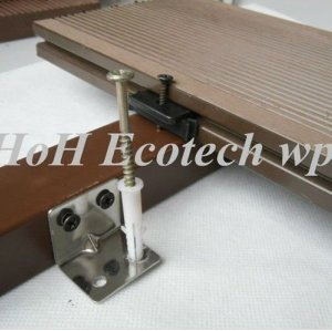 Assemble wood plastic composite decking (easy installation)