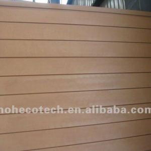 wood-color outdoor wpc wall panel/garden wall panel