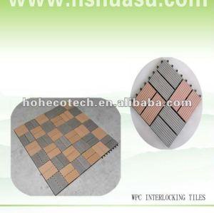 Waterproof&Anti-slip Wood plastic composite WPC Patio Decking floor tile