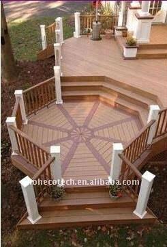 Decking composé en plastique en bois de projet de WPC/decking de plancher