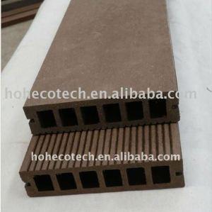 decking composé en plastique en bois creux de wpc de 149x34mm/decking de wpc panneau de plancher