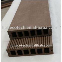 149x34mmの空の木製のプラスチック合成のwpcのdeckingか床板のwpcのdecking