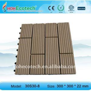 Decking/pavimento eco - amichevole in legno composito di plastica