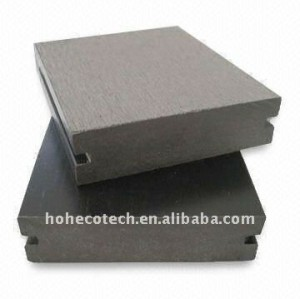 Maciza ranurado 90x 25mm suelo al aire libre compuesto plástico de madera decking del wpc/suelo