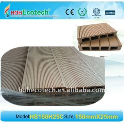 合成のデッキに床を張ること環境に優しく、100%再生利用できる150*25mm紙やすりで磨くWPCの木製のプラスチック合成のdeckingまたは
